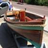 Front view wooden sloop