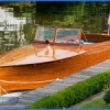 classic mahogany launch boat 1