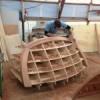 progress wooden boat building